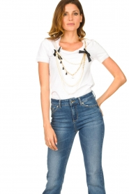 Liu Jo |  T-shirt with chain detail Edor | white  | Picture 4