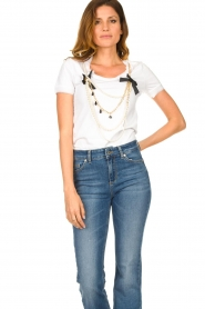 Liu Jo |  T-shirt with chain detail Edor | white  | Picture 2