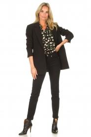 Sofie Schnoor |  Blouse with floral print Kelsie | black  | Picture 3