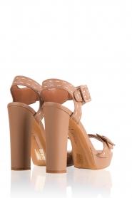 Lola Cruz | Leren sandalen Elsa | bruin  | Afbeelding 4