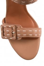 Lola Cruz | Leren sandalen Elsa | bruin  | Afbeelding 5