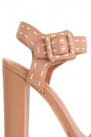 Lola Cruz | Leren sandalen Elsa | bruin  | Afbeelding 6