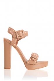 Lola Cruz | Leren sandalen Elsa | bruin  | Afbeelding 1