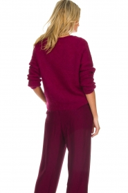 Des Petits Hauts |  Knitted sweater with sequins Carlie | bordeaux  | Picture 6
