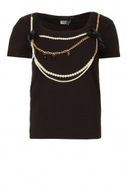 Liu Jo | T-shirt with chain detail Edor | black  | Picture 1