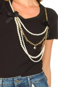 Liu Jo | T-shirt with chain detail Edor | black  | Picture 7