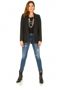 Liu Jo | T-shirt with chain detail Edor | black  | Picture 3