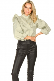 Sofie Schnoor |  Jeans blouse Silke | green  | Picture 2