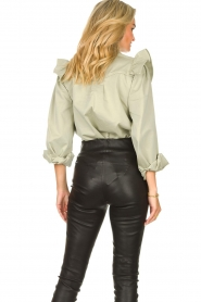 Sofie Schnoor |  Jeans blouse Silke | green  | Picture 6