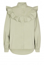 Sofie Schnoor |  Jeans blouse Silke | green  | Picture 1