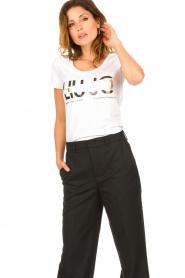 Liu Jo |  Logo T-shirt Andrea | white  | Picture 2