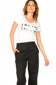 Liu Jo |  Logo T-shirt Andrea | white  | Picture 4