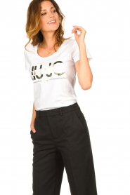 Liu Jo |  Logo T-shirt Andrea | white  | Picture 5