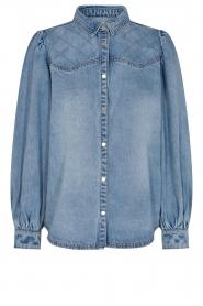 Sofie Schnoor |  Denim blouse Melania | blue  | Picture 1