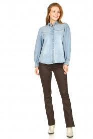 Sofie Schnoor |  Denim blouse Melania | blue  | Picture 3