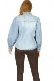 Sofie Schnoor |  Denim blouse Melania | blue  | Picture 7
