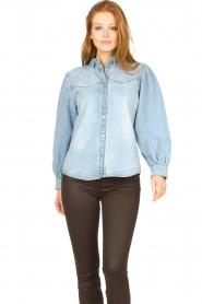 Sofie Schnoor |  Denim blouse Melania | blue  | Picture 5