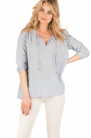 Set |  Oversized blouse Romy | blue  | Picture 2