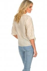 Des Petits Hauts | Striped blouse Tambourine | white  | Picture 5