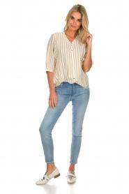 Des Petits Hauts | Striped blouse Tambourine | white  | Picture 3