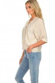 Des Petits Hauts | Striped blouse Tambourine | white  | Picture 4