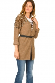 Liu Jo |  Cardigan with sequins Scotte | brown  | Picture 3