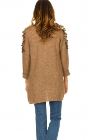 Liu Jo |  Cardigan with sequins Scotte | brown  | Picture 6