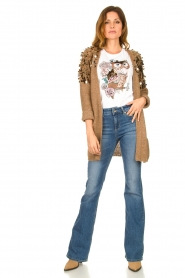 Liu Jo |  Cardigan with sequins Scotte | brown  | Picture 2