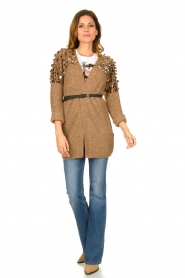 Liu Jo |  Cardigan with sequins Scotte | brown  | Picture 4