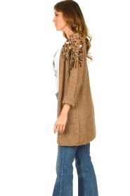 Liu Jo |  Cardigan with sequins Scotte | brown  | Picture 5