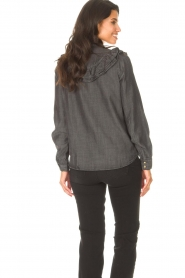 Sofie Schnoor |  Jeans blouse Silke | grey  | Picture 7