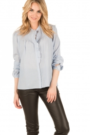 Set |  Oversized blouse Renee | blue  | Picture 2