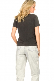 Sofie Schnoor |  T-shirt with imprint Cady | black  | Picture 6