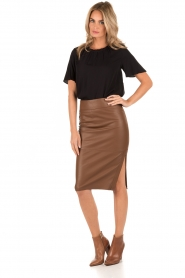 Leather skirt Giselle | brown