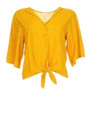 Des Petits Hauts | Blouse met stippen Espelette | geel  | Afbeelding 1