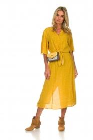 Des Petits Hauts |  Polkadot blouse Espelette | yellow  | Picture 3