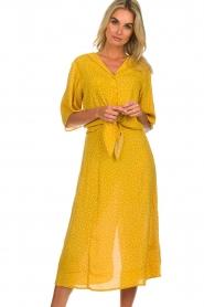 Des Petits Hauts |  Polkadot blouse Espelette | yellow  | Picture 2