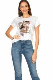 Liu Jo |  T-shirt with print Wild | white  | Picture 2