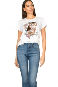 Liu Jo |  T-shirt with print Wild | white  | Picture 4