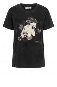 Sofie Schnoor |  T-shirt with floral Cady | black  | Picture 1