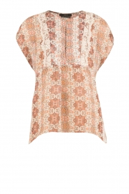 Set |  Semi-sheer blouse Charlotte | brown  | Picture 1