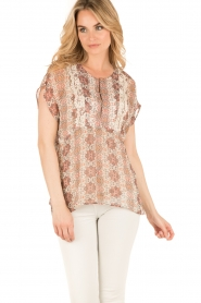 Set |  Semi-sheer blouse Charlotte | brown  | Picture 2