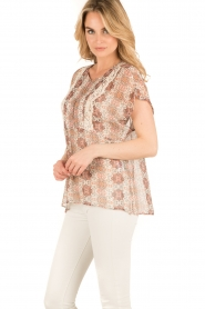 Set |  Semi-sheer blouse Charlotte | brown  | Picture 3