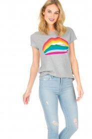 Set | T-shirt Rainbow Lips | grijs  | Afbeelding 4