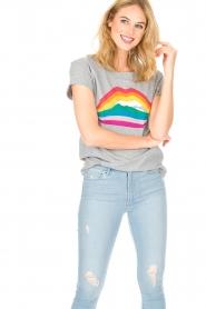 Set | T-shirt Rainbow Lips | grijs  | Afbeelding 2