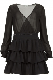 Liu Jo | Dress with ruffles Capri | black  | Picture 1