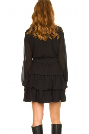 Liu Jo | Dress with ruffles Capri | black  | Picture 6