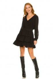 Liu Jo | Dress with ruffles Capri | black  | Picture 3