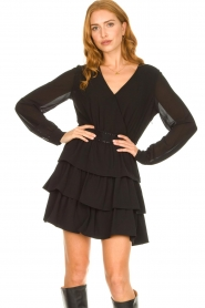 Liu Jo | Dress with ruffles Capri | black  | Picture 2