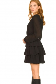 Liu Jo | Dress with ruffles Capri | black  | Picture 5